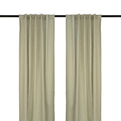 Gray Cotton Slub Curtain Panel Set, 108 in.