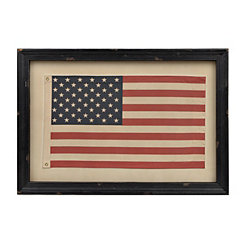 Framed Vintage American Flag Wall Plaque