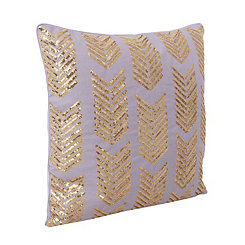 Purple Hadara Sequin Arrow Pillow