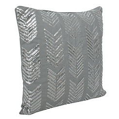 Gray Hadara Sequin Arrow Pillow