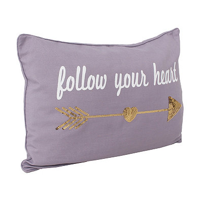 Purple Sequin Follow Your Heart Pillow