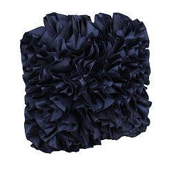 Navy Bahama Ruffles Pillow