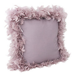Purple Nirvana Mary Feather Trim Pillow