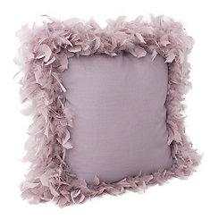 Purple Nirvana Mary Feather Trim Pillow
