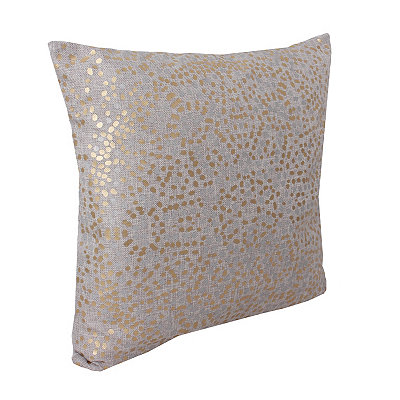 Silver Anu Foil Dot Pillow