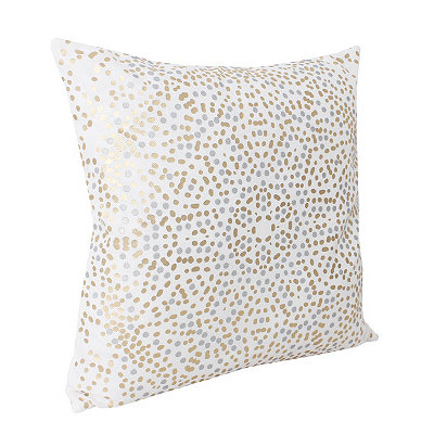 White Anu Foil Dot Pillow