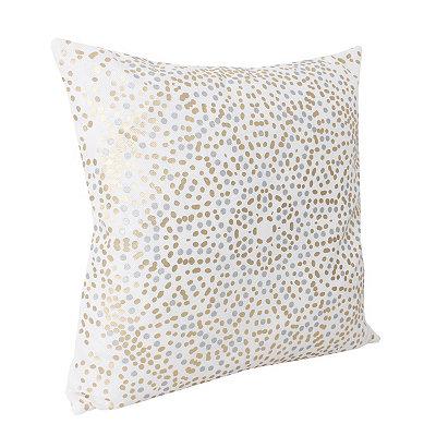 White Anu Foil Dot Pillow