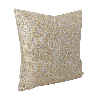 Natural Anu Foil Dot Pillow