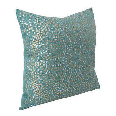 Turquoise Anu Foil Dot Pillow