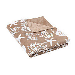 Tan Tamarindo Microplush Throw Blanket