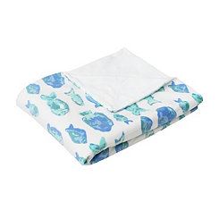 Blue Petro Fish Microplush Throw Blanket