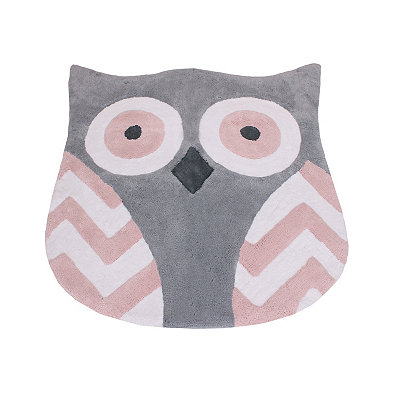 Pink Tootsie Owl Plush Accent Rug