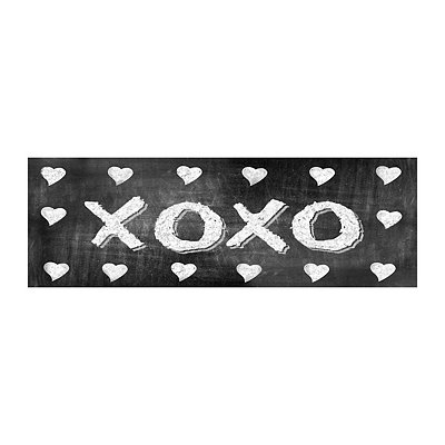 XOXO Chalk Art Canvas Art Print