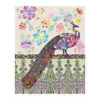 Peacock Flowers Canvas Art Print