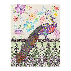 Peacock Flowers Canvas Art Print