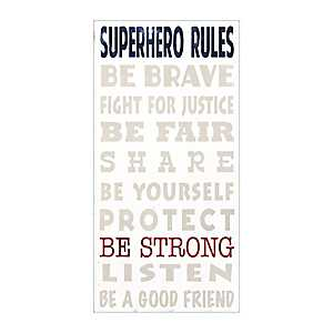 Superhero Rules Canvas Art Print