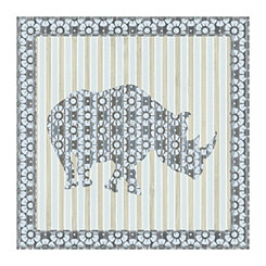 Safari Rhino Canvas Art Print