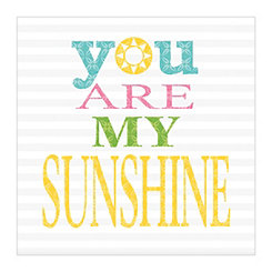 Striped You Are My Sunshine Canvas Art Print
