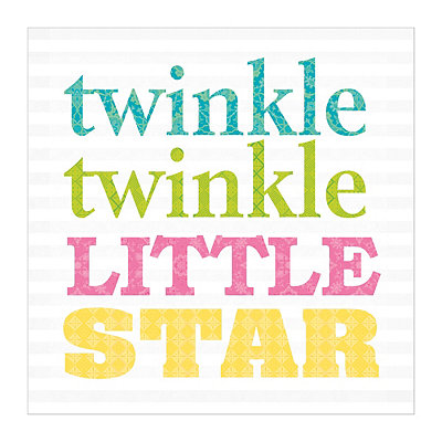 Striped Twinkle Twinkle Canvas Art Print