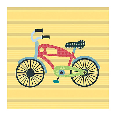 Getting There Bike Canvas Art Print