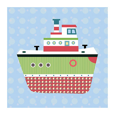 Getting There Boat Canvas Art Print
