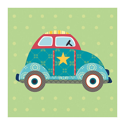 Getting There Car Canvas Art Print