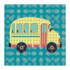 Getting There Bus Canvas Art Print