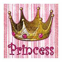 Princess Crown Canvas Art Print