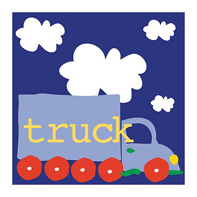 Playtime Blue Truck Canvas Art Print