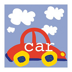 Playtime Red Car Canvas Art Print