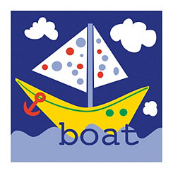 Playtime Yellow Boat Canvas Art Print