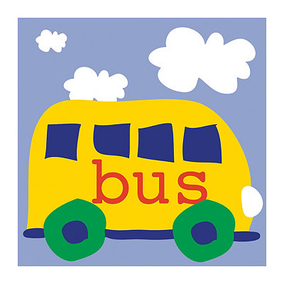 Playtime Yellow Bus Canvas Art Print