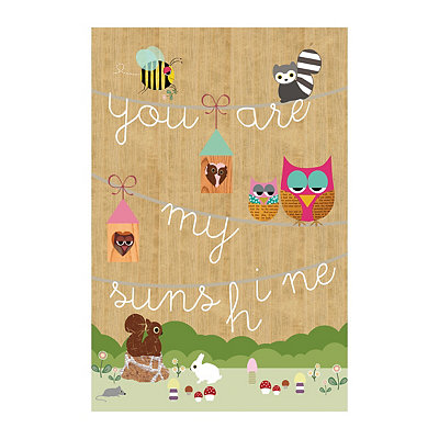 You Are My Sunshine Animals Canvas Art Print