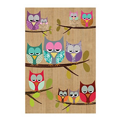 Owl Tree I Canvas Art Print
