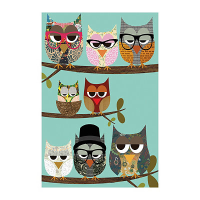 Owl Tree II Canvas Art Print