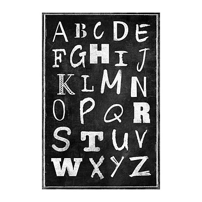 Chalk Art Alphabet Canvas Art Print