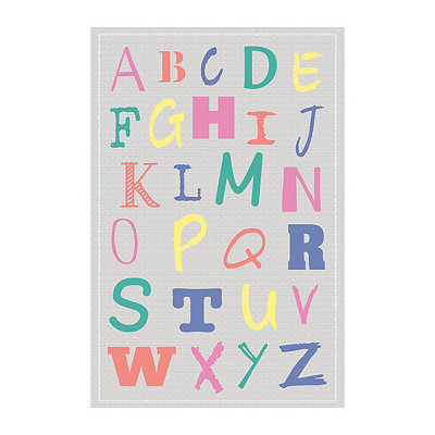 Colorful Alphabet Canvas Art Print