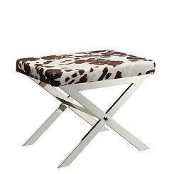 Cowhide X Stool
