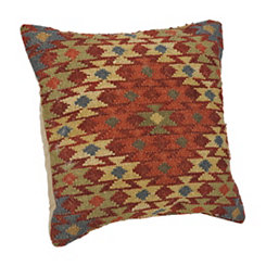 Red Aztec Diamond Pillow