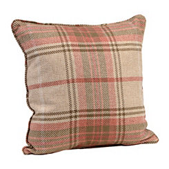 Tan Plaid Windsor Pillow