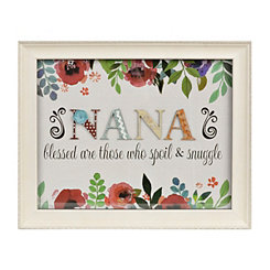 Nana Floral Scrapbook Shadowbox