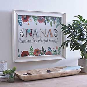 Nana Floral Scrapbook Shadowbox