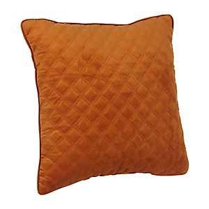 Spice Velvet Quilted Pillow