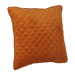 Spice Velvet Quilted Pillow