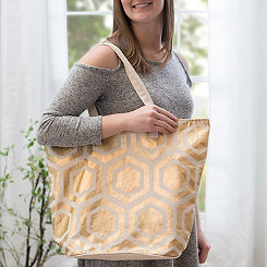 Metallic Patterned Tote Bags