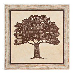 Family Tree Attributes Framed Art Print