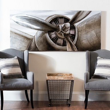 Insulated Backpack Picnic Set  Airplane Propeller Canvas Art Print. Home Decor  Wall Decor  Furniture  Unique Gifts   Kirklands