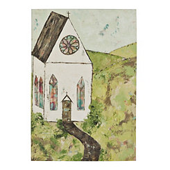 Church Landscape Canvas Art Print