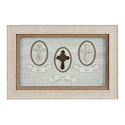 Love Faith Hope Crosses Shadowbox
