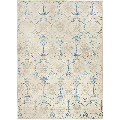 Leyla Vintage Creme 2-pc. Washable Area Rug, 5x7
